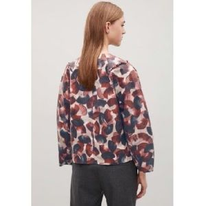 COS Zip Front Jacket, Ruffle Detail Front & Back